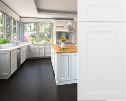 flat panel white cabinet