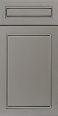 Gray cabinet door