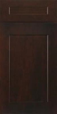 brown shaker cabinet door