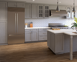 Nova Light Grey Shaker Cabinets By Forevermark RTA Kitchen Cabinets - Light grey shaker cabinets