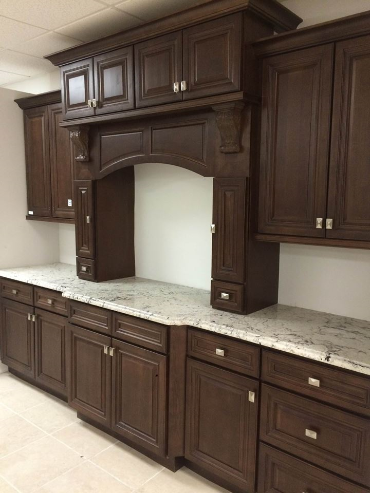 Details about Dark Caramel Kitchen Cabinets 10x10 layout or custom fit RTA  1113DC