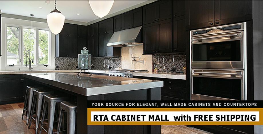 Details about Dark Shaker Kitchen Cabinets 14 foot straight run or custom  fit RTA sr1113Den