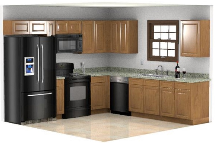English Oak Cyof Country Kitchen Cabinet Set