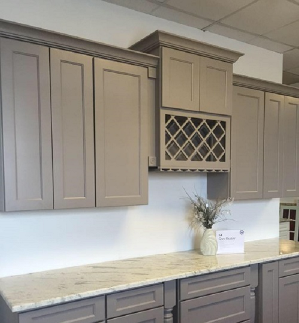 Details about Gray Shaker Kitchen Cabinets 10x10 layout or custom fit RTA  1113gs
