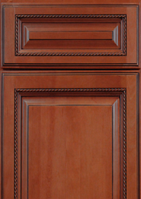 Details About Ed Cabinet Set 14 Foot Run Free Shipping Sienna Finish W Rope Inlay
