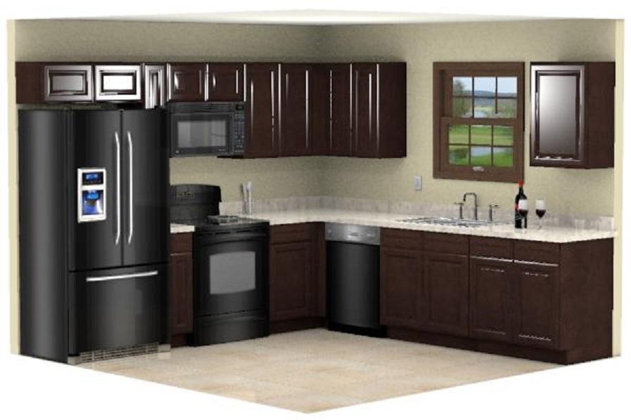 Cheap Kitchen Remodel Espresso Cabinets 10x10 Design RTA ...