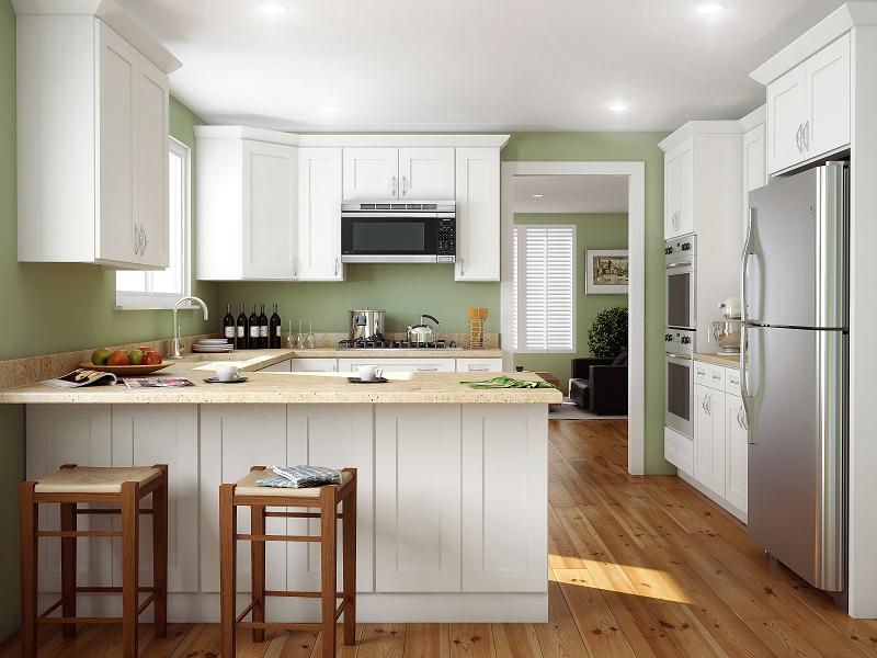 Arctic White Shaker Kitchen