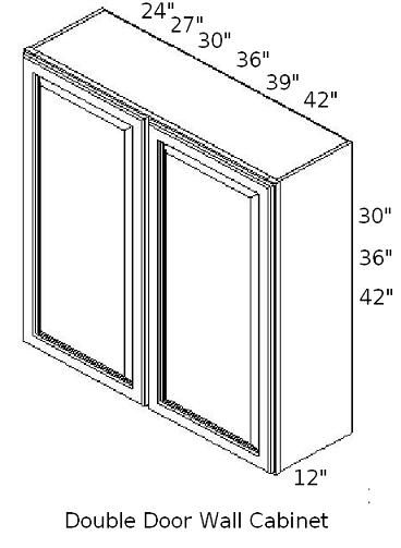 wall double door cabinet sizes