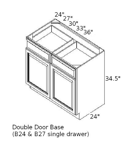 base double door cabinet sizes