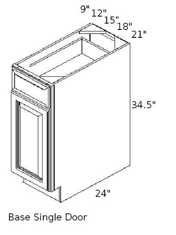 base single door cabinet sizes