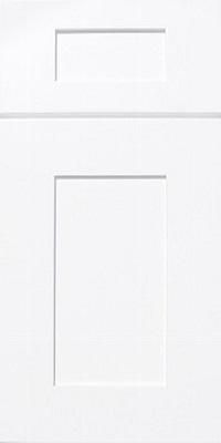 white shaker glaze cabinet door